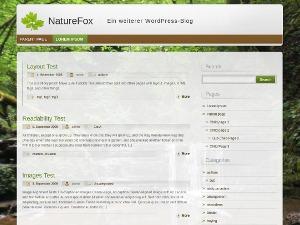 NatureFox garden WordPress theme