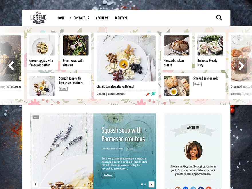 Neptune by Osetin food WordPress theme
