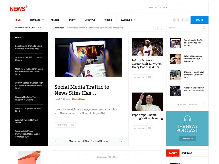 News2 newspaper WordPress theme