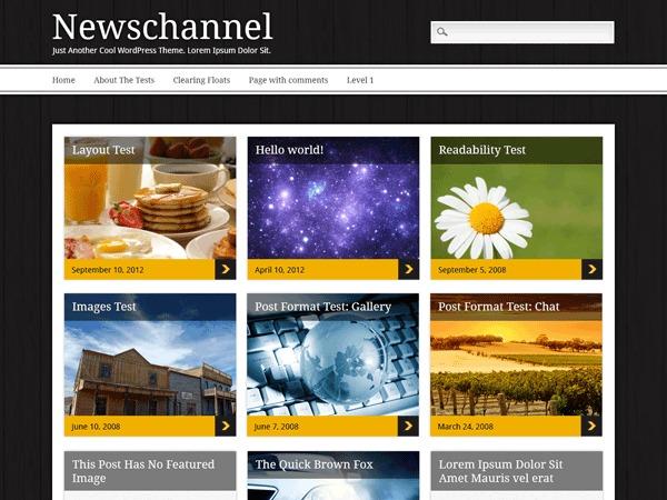Newschannel WordPress template for photographers