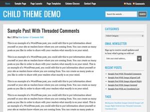 Nomadic Child Theme WordPress theme