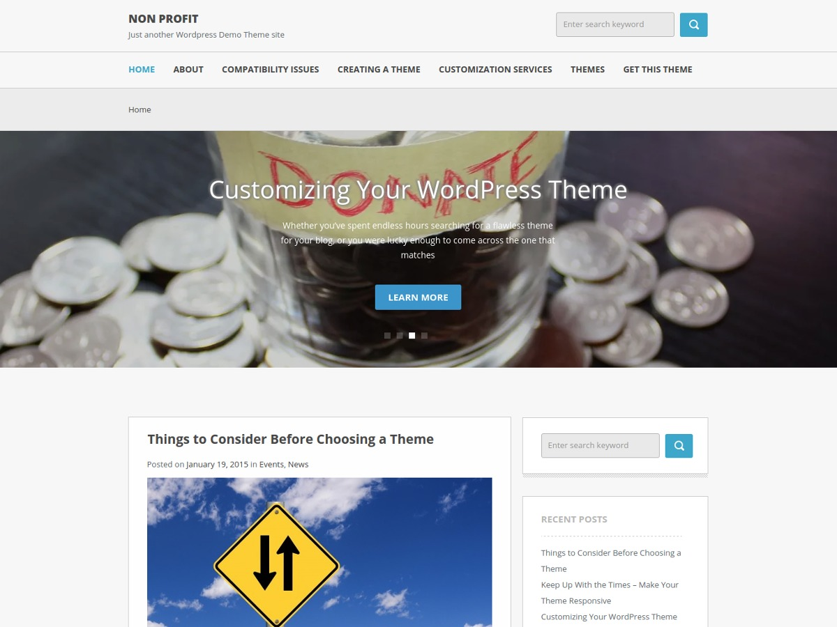 Non Profit WordPress theme free download
