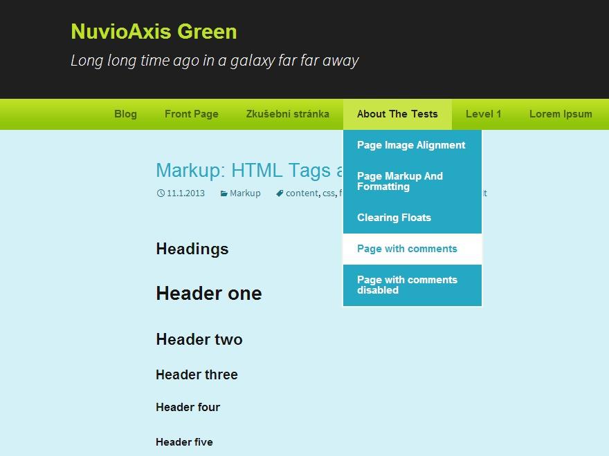 NuvioAxis Green WordPress gallery theme
