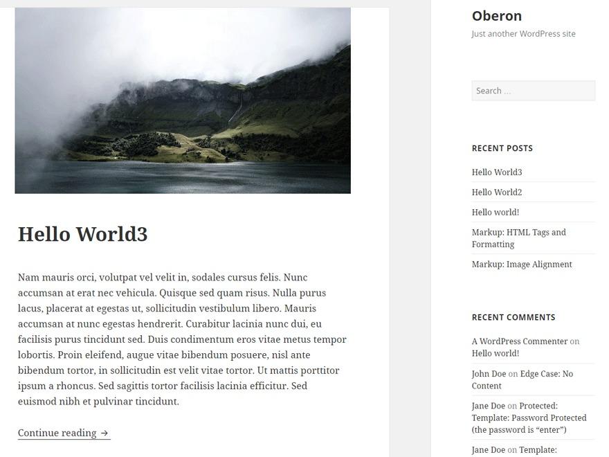 Oberon WordPress free download