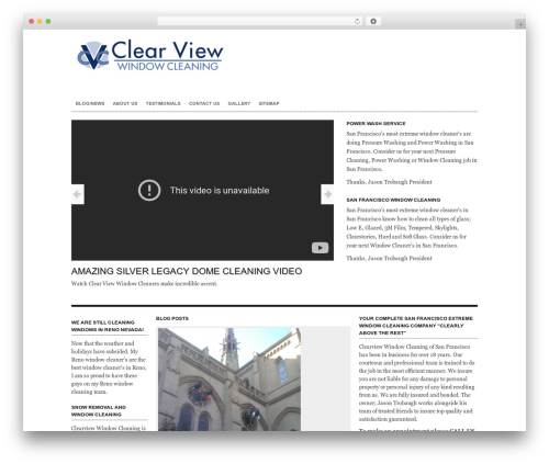 Free WordPress Smart YouTube PRO plugin - windowcleaningservices.biz