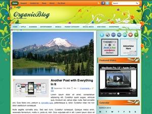 OrganicBlog WordPress blog theme