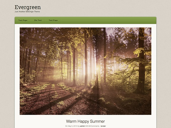 Origami Evergreen theme WordPress free