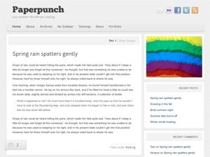 Paperpunch WordPress website template