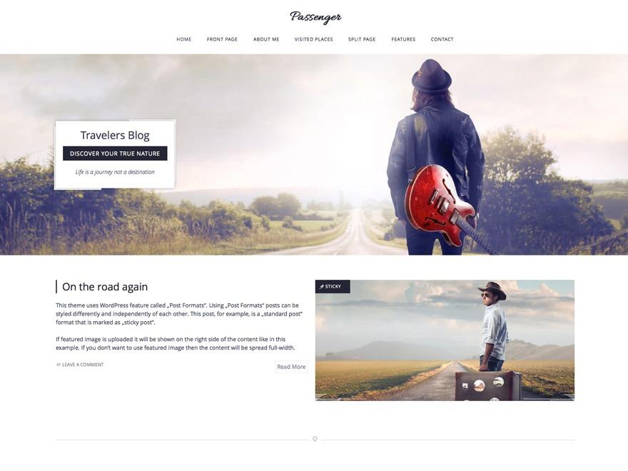 Passenger WordPress travel theme