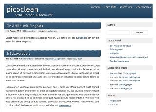 picoclean WordPress theme