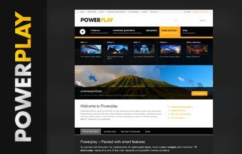 Powerplay WordPress portfolio template
