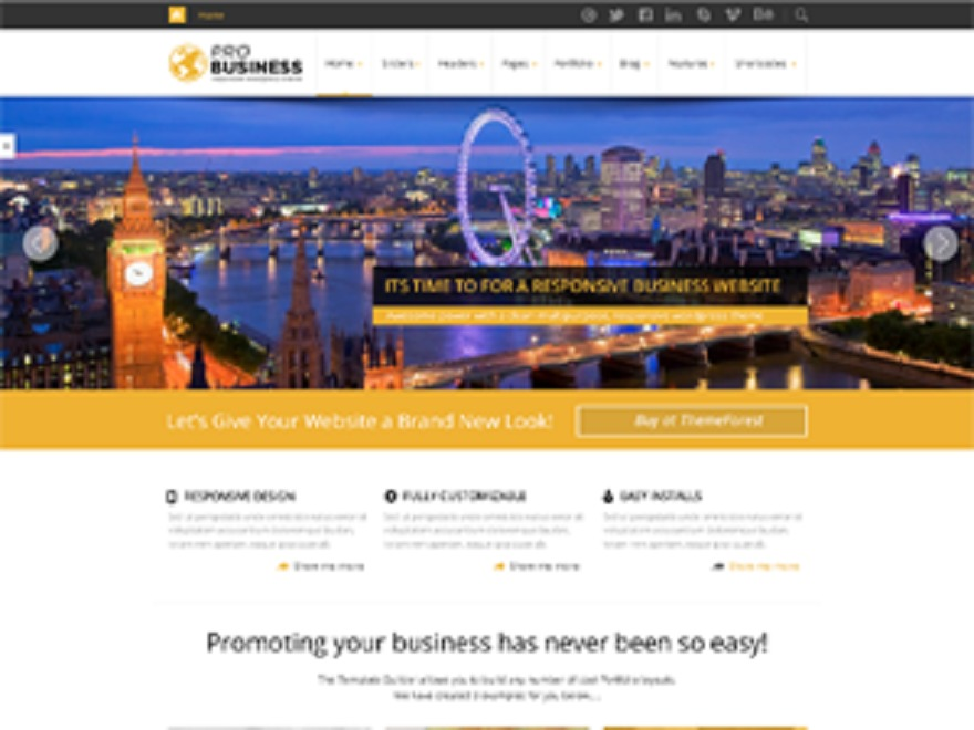 Pro Business company WordPress theme