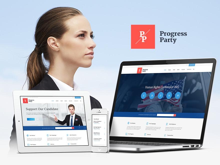 Progress Party theme WordPress