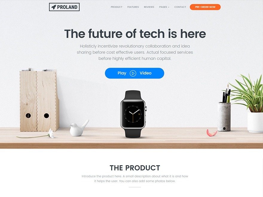 Proland WordPress blog template