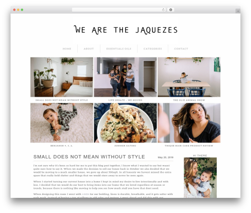 ProPhoto template WordPress - wearethejaquezes.com