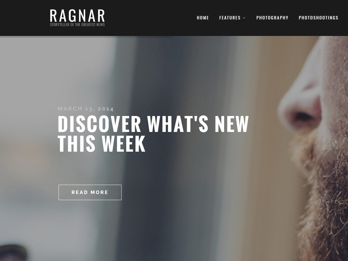 Ragnar WordPress blog template