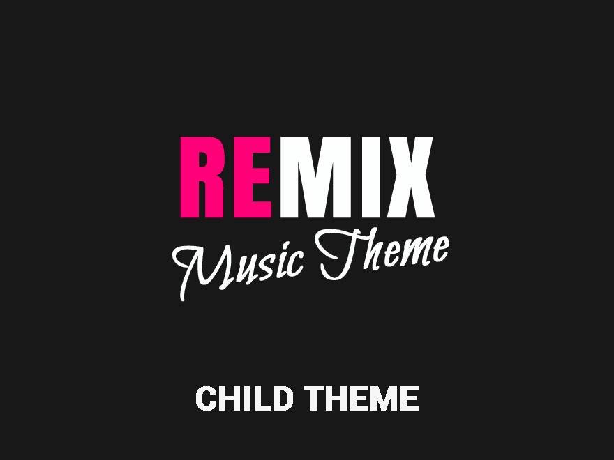 Remix Child WordPress website template