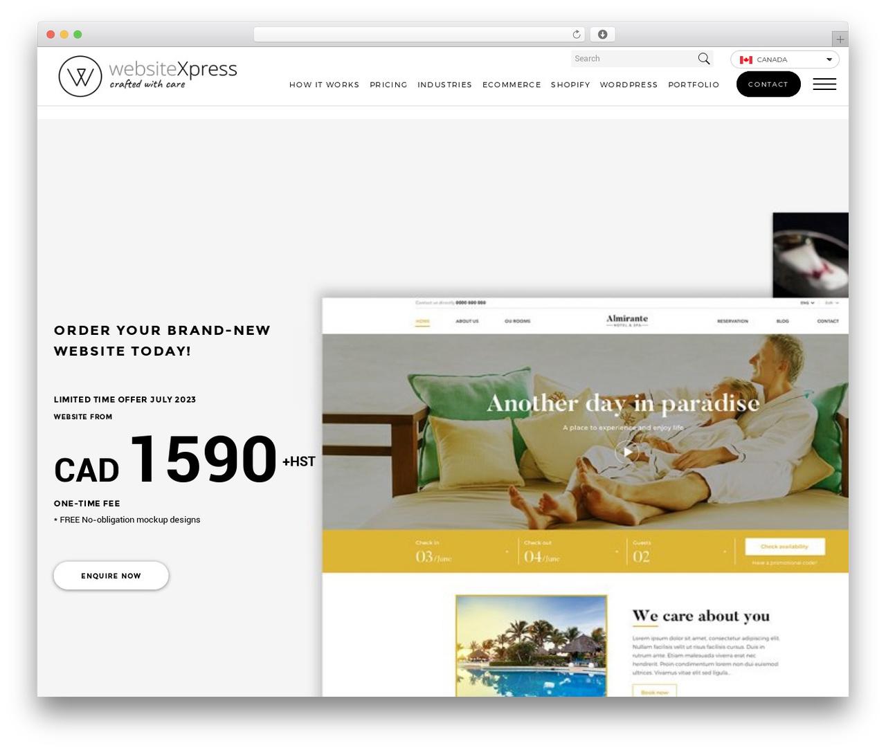 Responsive Mobile best WordPress template - websitexpress.com