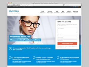 Revive Pro WordPress template for business