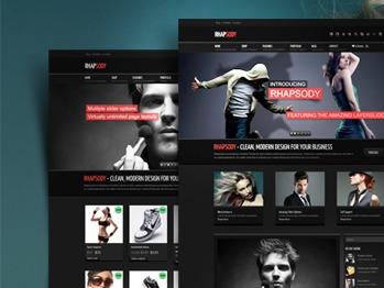 Rhapsody personal blog WordPress theme