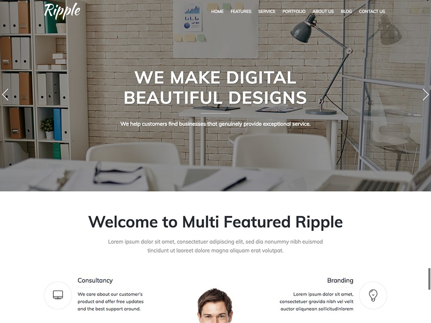 Ripple theme WordPress