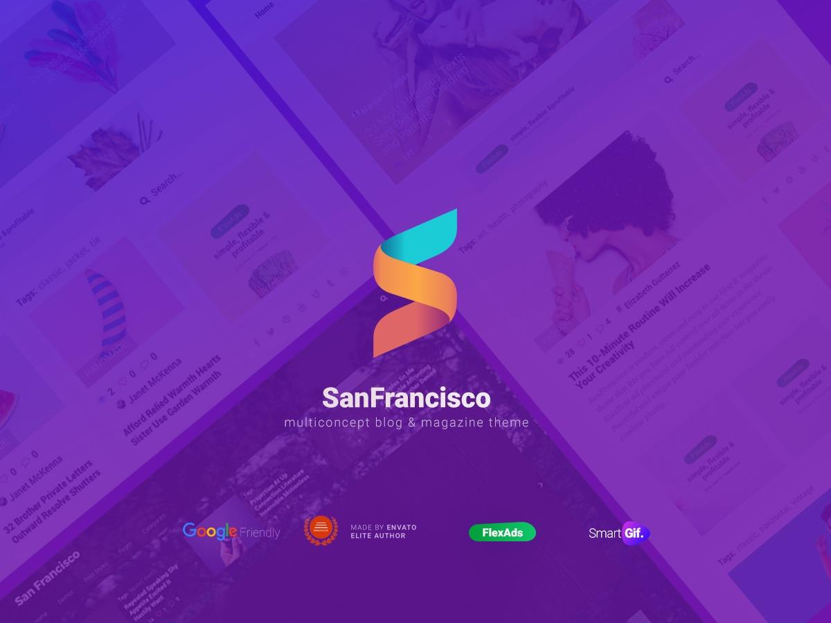 SanFrancisco WordPress blog template