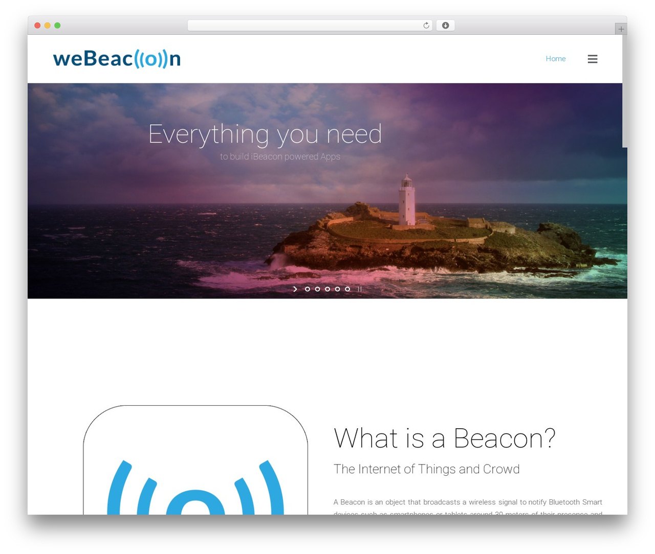 Satellite7 WordPress page template - webeacon.com