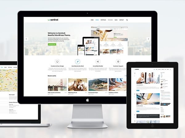 Sentinel theme WordPress