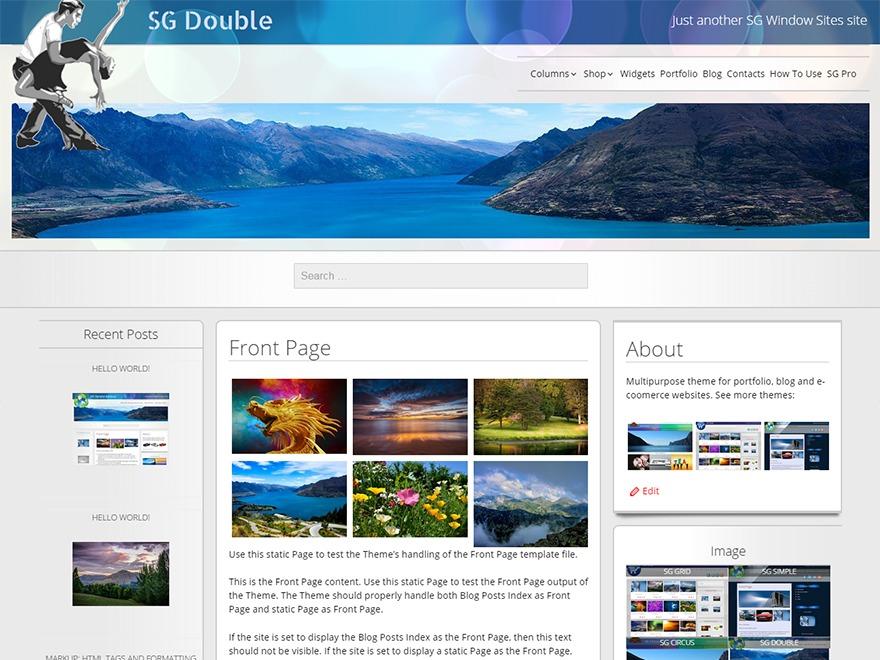 SG Double best free WordPress theme