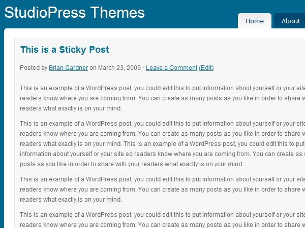 Shades of Blue best WordPress theme