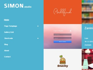 Simon WordPress portfolio theme