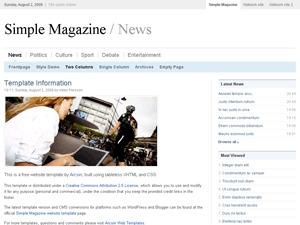 Simple Magazine newspaper WordPress theme