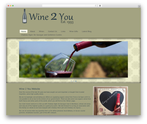 Simplicity WordPress theme - wine-2-you.com