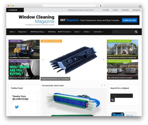 SKT Magazine Pro WordPress news theme - windowcleaningmagazine.co.uk