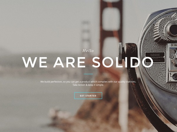 SOLIDO WordPress template