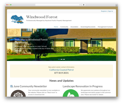 Spacious Pro best WordPress template - windwoodforest.org