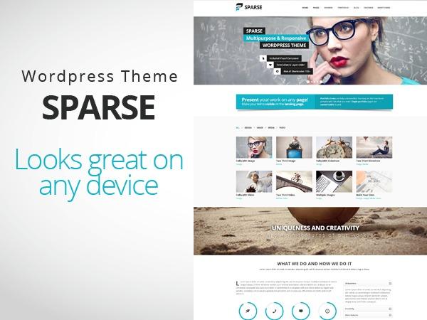 Sparse business WordPress theme