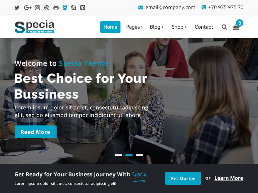 Specia free WordPress theme