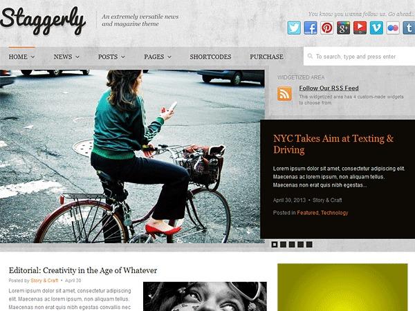 Staggerly WordPress news theme
