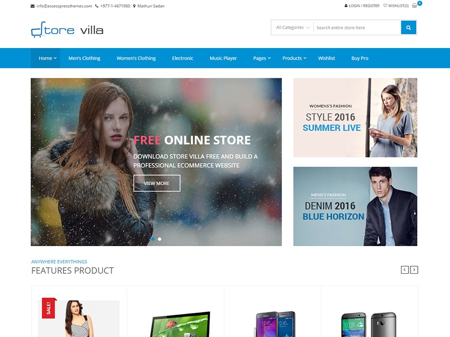 StoreVilla WordPress store theme