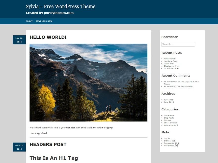 Sylvia WordPress store theme