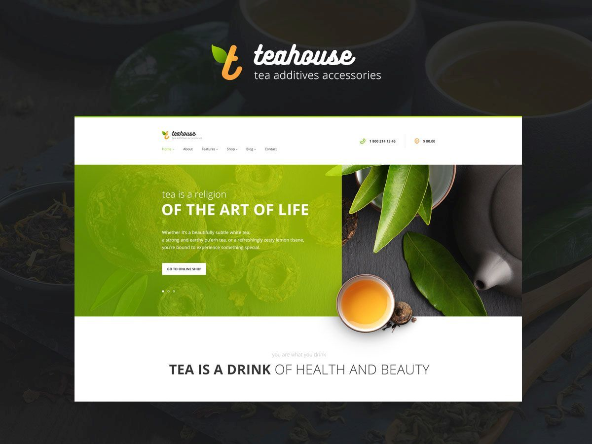 teahouse WordPress blog theme
