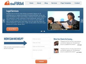 The Firm company WordPress theme
