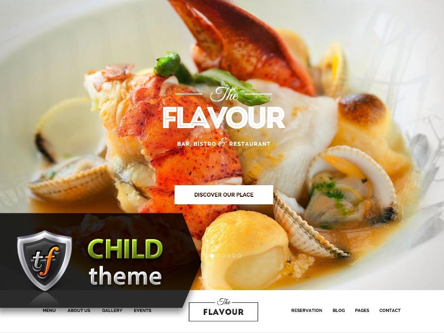 The Flavour Child WordPress theme