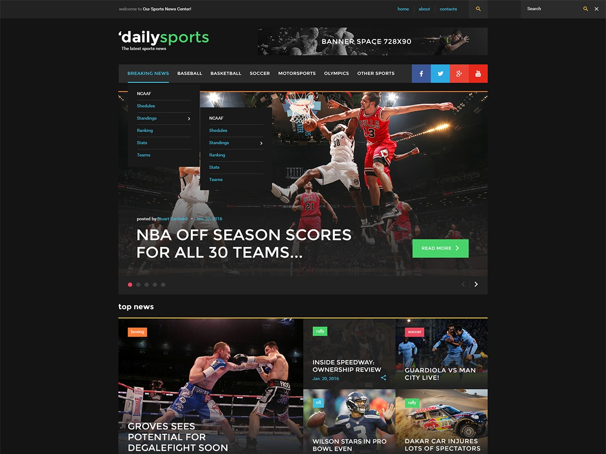 Theme WordPress daily_sports