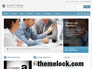Theme WordPress Grand College