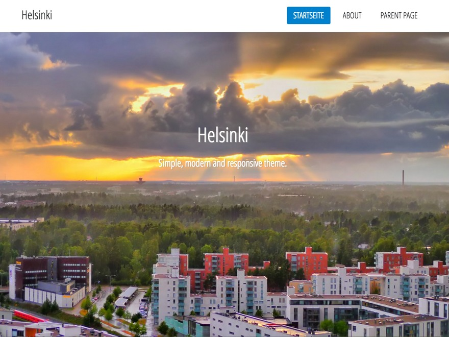 Theme WordPress Helsinki