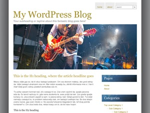 Theme WordPress Live Music