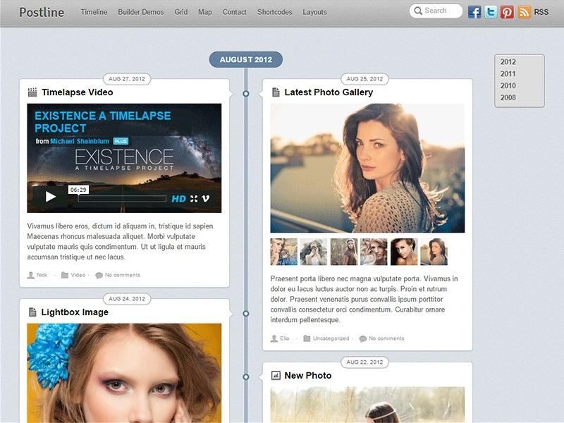 Theme WordPress Themify Postline