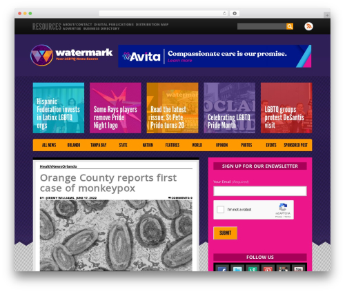 ThemeAlley WP template - watermarkonline.com